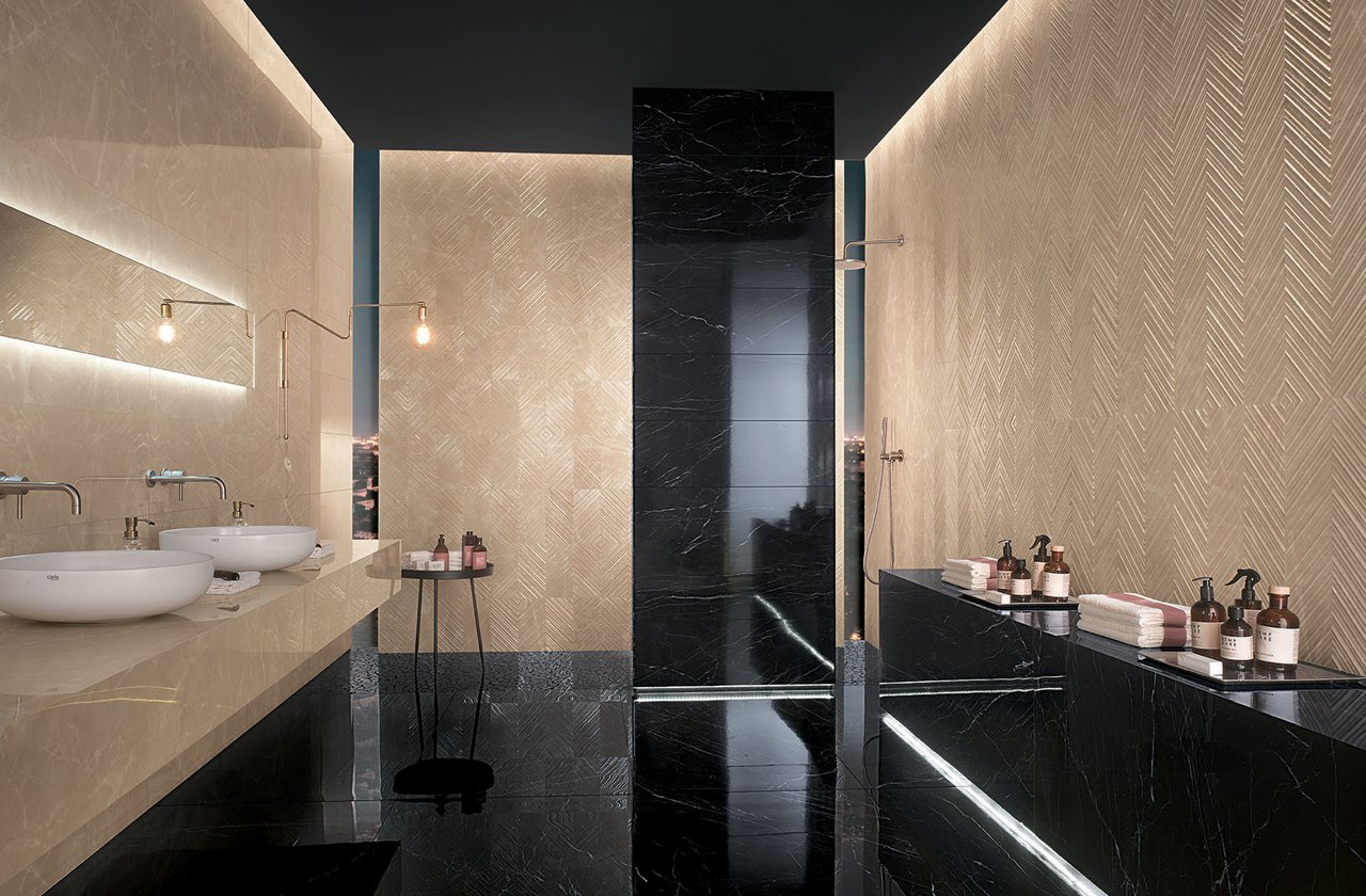 Fap Ceramiche Offers A Wide Range Of Alluring Black Floor Tiles And Coordinated White Body Porcelain Stoneware Wall