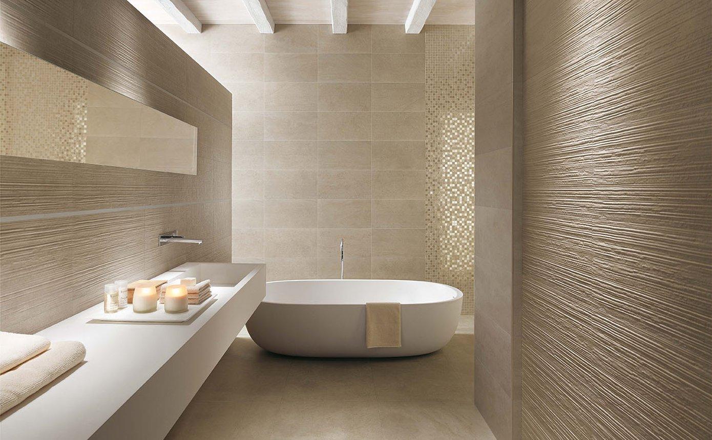 Bagno Con Mosaico Beige : Desert idee rivestimento bagno in gres e ceramica fap