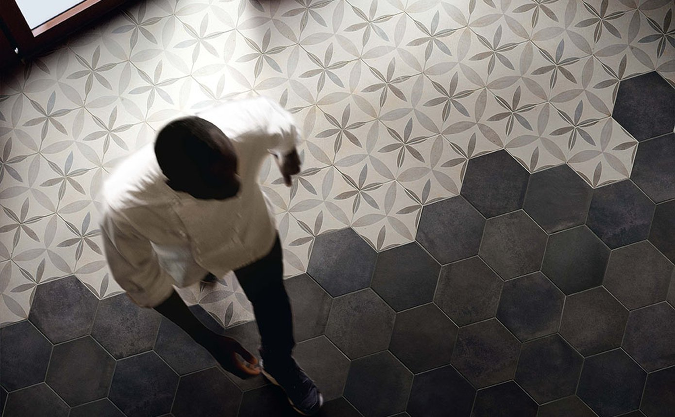Piastrelle esagonali piastrelle in gres esagonali mattonelle