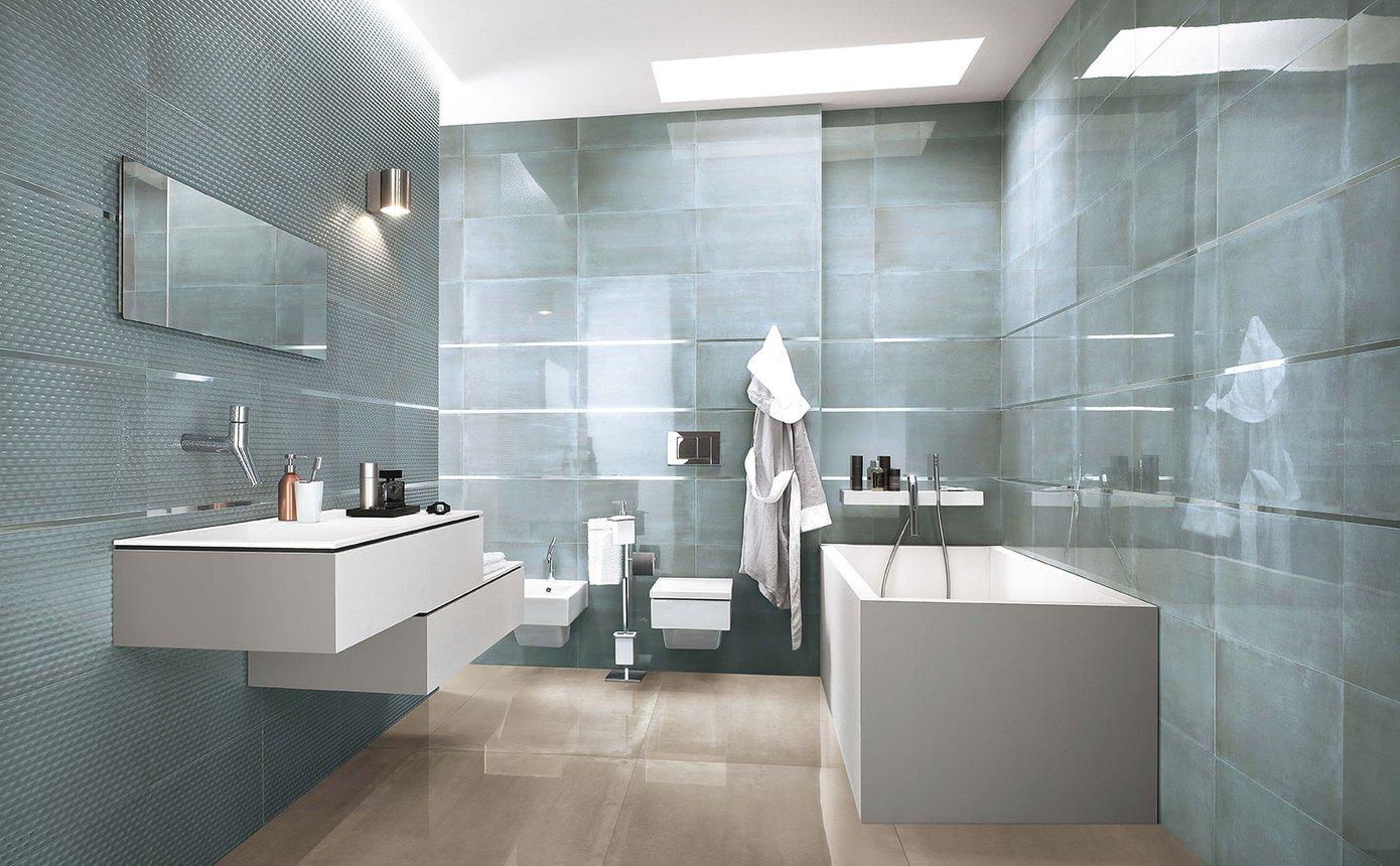 Frame gres porcellanato effetto resina fap - Idee rivestimento bagno ...