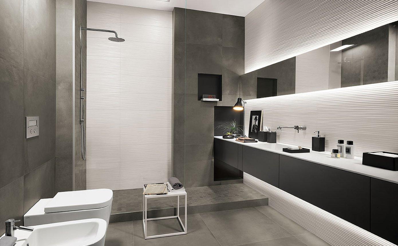 Lumina piastrelle per bagni moderni effetto materico fap - Piastrelle per bagni moderni ...