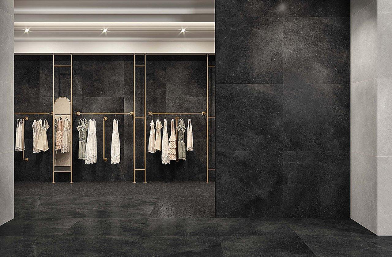 Black Floor Tiles And Wall Tiles Fap