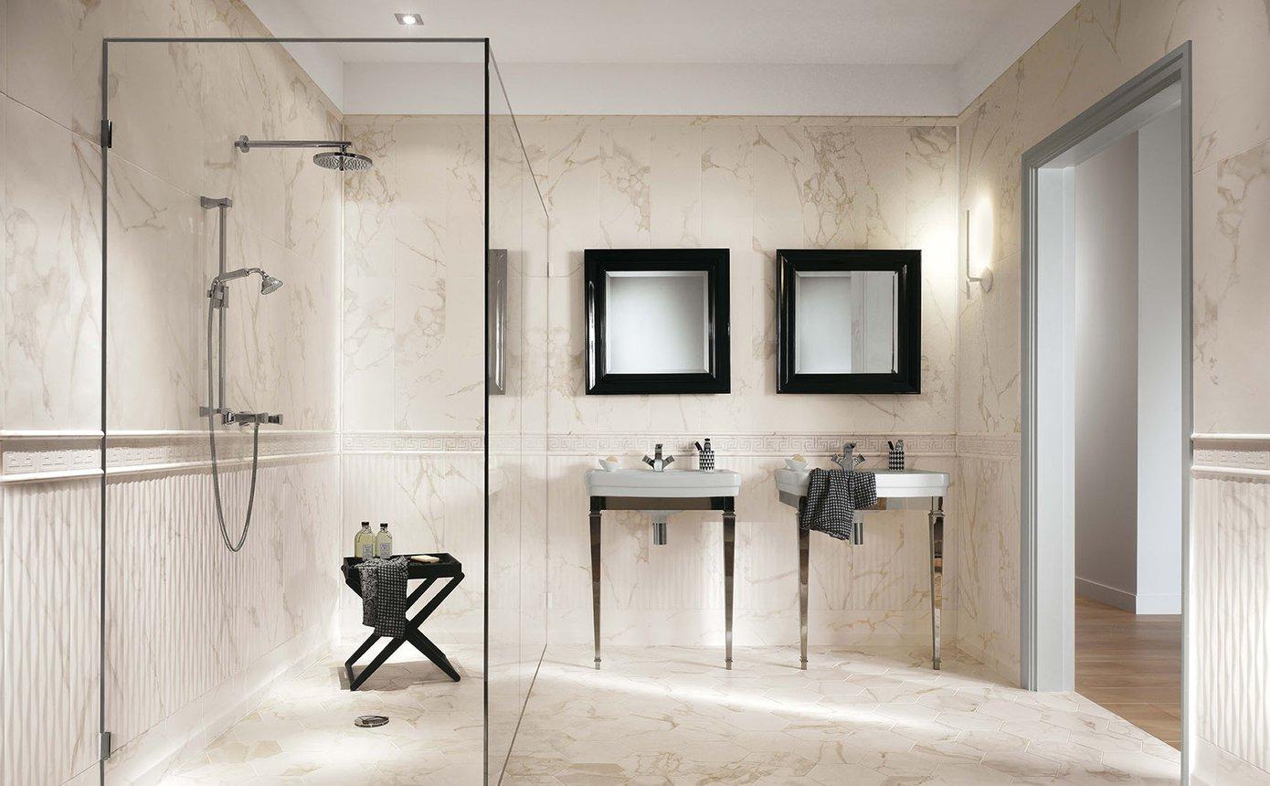 Roma pavimento in gres effetto marmo e pietra fap