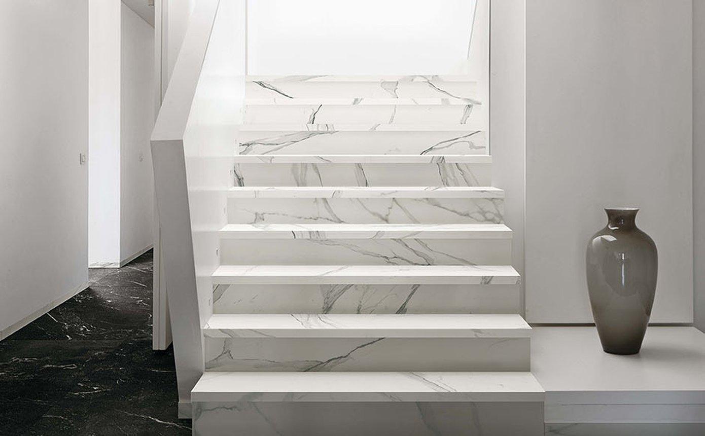 Scala In Marmo Nero roma: floor tiles porcelain stoneware and white-body tiles | fap