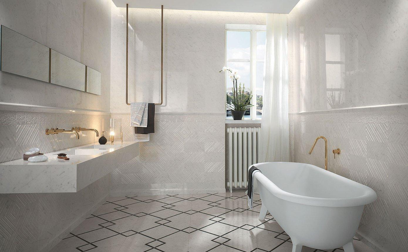 Roma Diamond Fap Ceramiche roma classic: classic tiles with marble effect | fap
