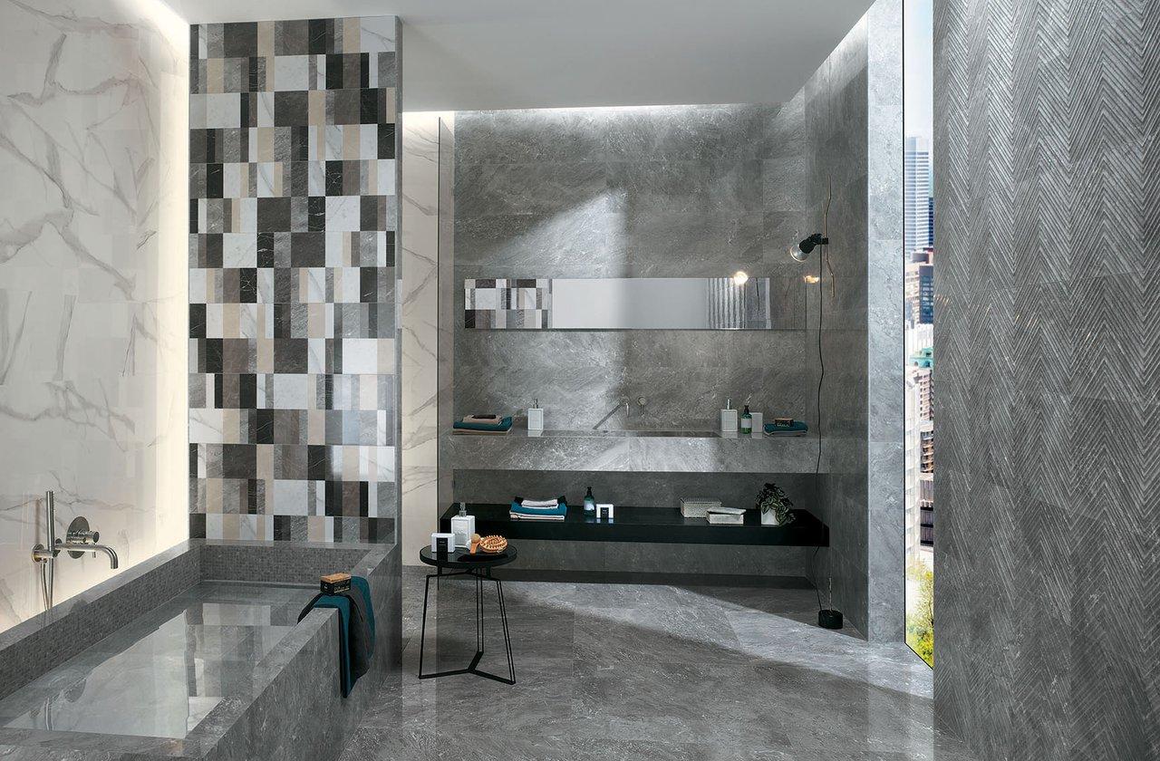 Rivestimenti Bagni Moderni Grigio rivestimenti bagno: piastrelle bagno in ceramica | fap