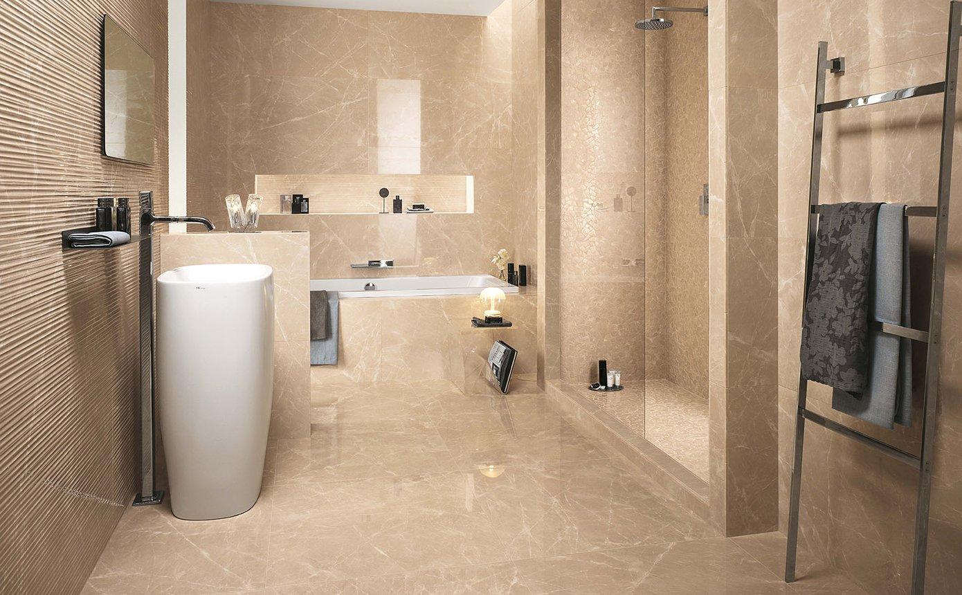 Pavimento Finto Marmo Lucido roma diamond: pavimenti in gres porcellanato effetto marmo | fap