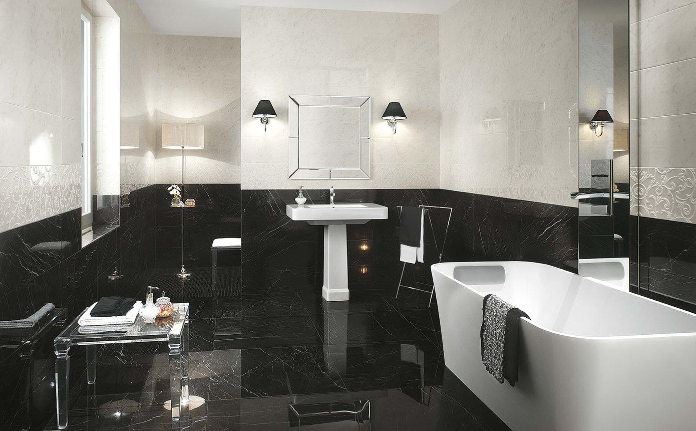 Bagni In Marmo Nero : Roma diamond pavimenti in gres porcellanato effetto marmo fap